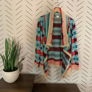 Tribal Western Cardigan from Listicle Size L
